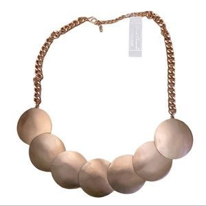 Rose Gold Look Disc Choker adjustable.NWT $59